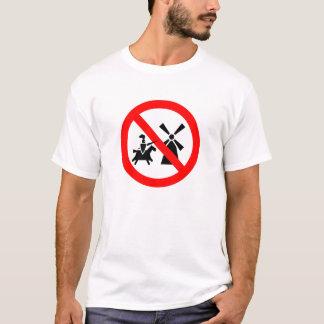No Tilting At Windmills (on white) T-Shirt
