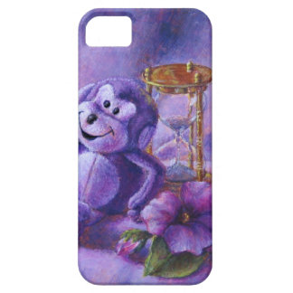 No Time To Monkey Around Purple Hourglass iPhone SE/5/5s Case