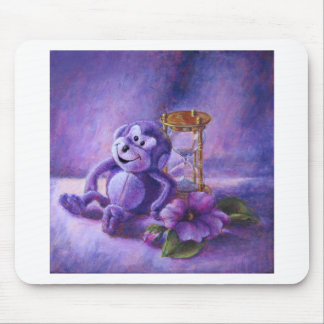 No Time To Monkey Around Purple Hourglass Mouse Pad
