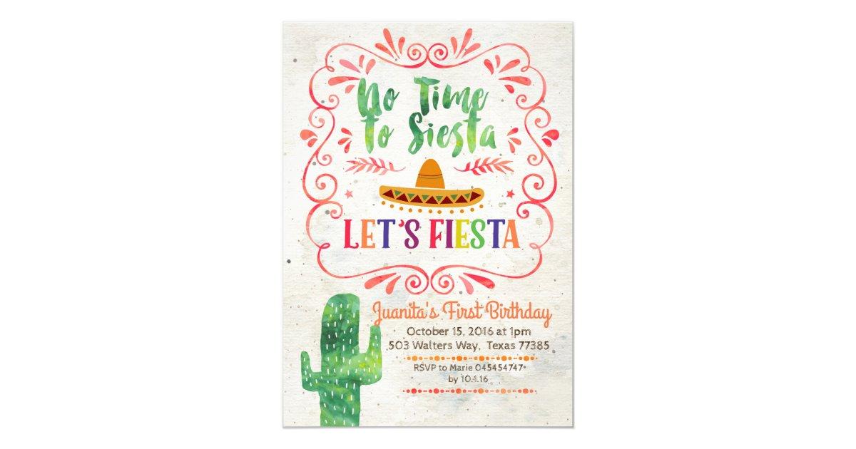 Mexican Fiesta Birthday Party Invitations & Announcements | Zazzle