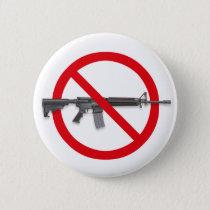 No To Assault Weapons - Gun Control Button