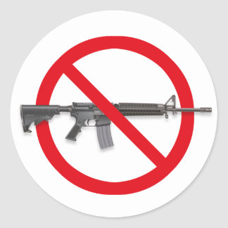 No To Assault Weapons - Gun Control Sticker