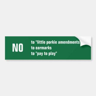 NO to Congress Bumper Sticker