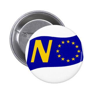 No To European Union Button