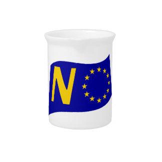 No To European Union Pitcher