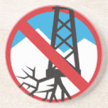 No To Fracking Drink Coaster