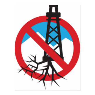 No To Fracking Postcard