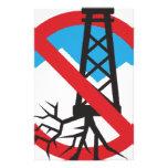 No To Fracking Stationery Design