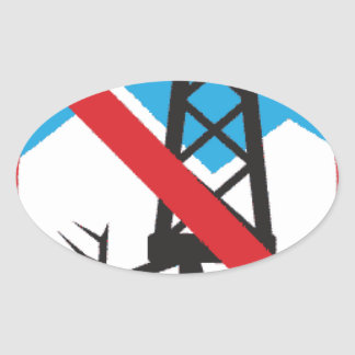 No To Fracking Stickers