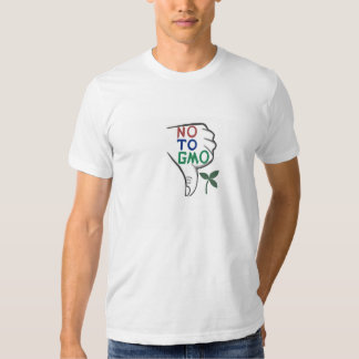 No, To Genetically Modified Food Men's T shirt