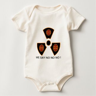 """""""No To Nuclear""""* Baby Bodysuit"""