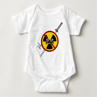 No to Nuclear Japanese Anti-Nuclear Power Campaign Baby Bodysuit