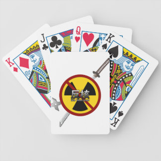 No to Nuclear Japanese Anti-Nuclear Power Campaign Bicycle Playing Cards