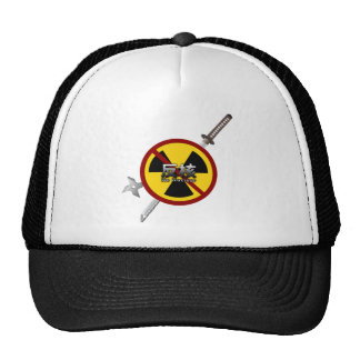 No to Nuclear Japanese Anti-Nuclear Power Campaign Mesh Hat