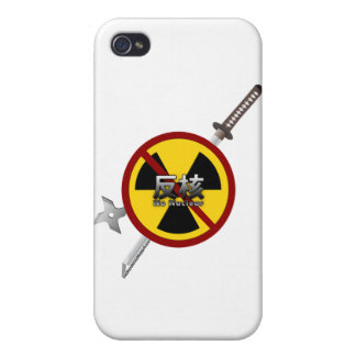 No to Nuclear Japanese Anti-Nuclear Power Campaign Cases For iPhone 4