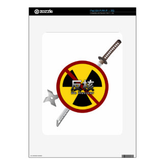 No to Nuclear Japanese Anti-Nuclear Power Campaign Decal For The iPad