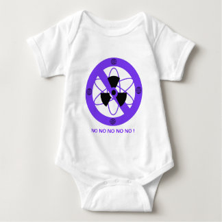"""""""NO TO NUCLEAR POWER""""* BABY BODYSUIT"""
