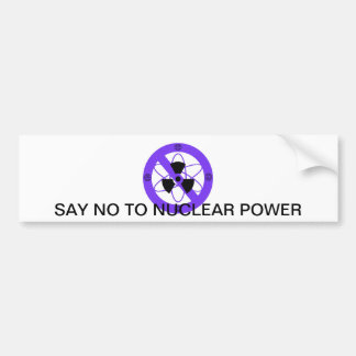 """NO TO NUCLEAR POWER""* BUMPER STICKER"