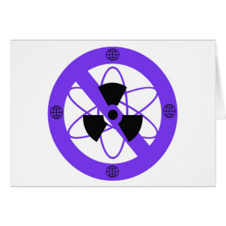 """NO TO NUCLEAR POWER""* CARD"