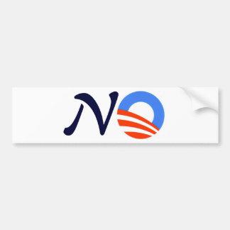 No to Obama Reelection Bumper Sticker