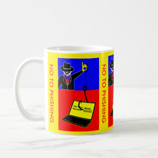 No to phishing coffee mugs