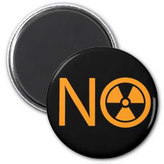 No to Radiation and Nuclear Power 2 Inch Round Magnet