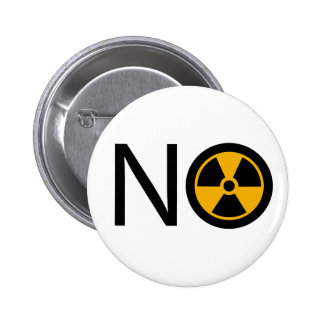 No to Radiation and Nuclear Power Button