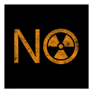 No to Radiation and Nuclear Power Poster
