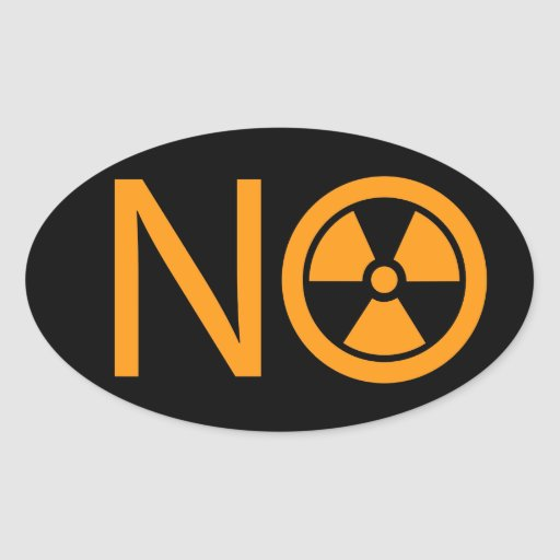 No to Radiation and Nuclear Power Stickers