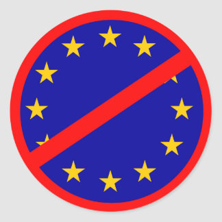 No to the EU Classic Round Sticker