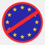No to the EU Round Stickers