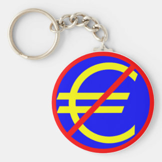 No to the Euro Keychain