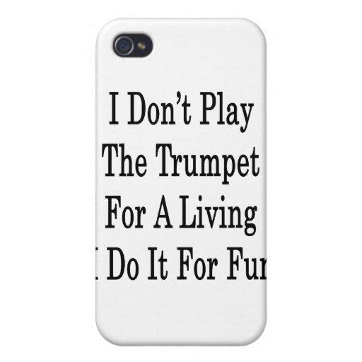 No toco la trompeta para la vida de A que la hago  iPhone 4 Protector