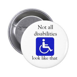 No toda la mirada de las incapacidades tiene gusto pin