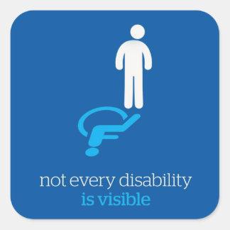 no todas las incapacidades son visibles pegatina cuadrada