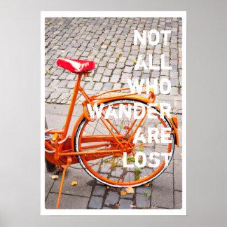 NO TODO EL WHO WANDER ES tipografía PERDIDA de la Poster