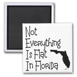 No todo en la Florida es plano Imán Cuadrado