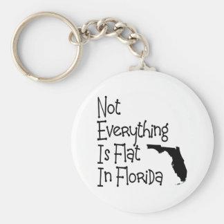 No todo en la Florida es plano Llavero Redondo Tipo Pin