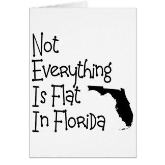 No todo en la Florida es plano Tarjeta De Felicitación