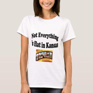 No todo es plano en Kansas Playera