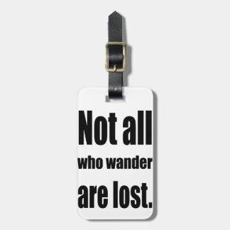 No todo que Wander se pierde redacta Etiquetas Maleta