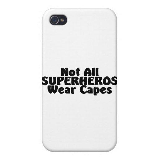 No todos los cabos del desgaste de SUPERHEROS iPhone 4 Fundas