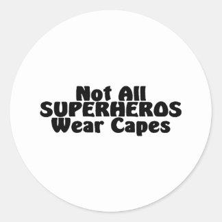 No todos los cabos del desgaste de SUPERHEROS Etiqueta Redonda