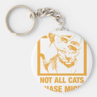 No todos los ratones de la caza de los gatos llavero redondo tipo pin