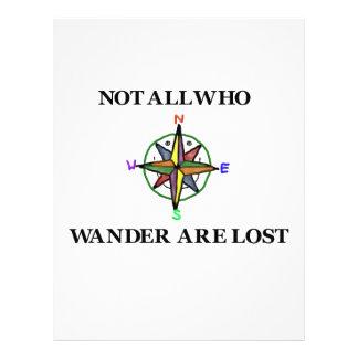 No todos que Wander se pierde Tarjeta Publicitaria