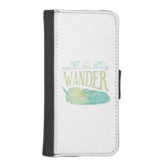 No todos que Wander se pierde Funda Tipo Billetera Para iPhone 5