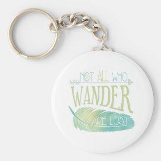 No todos que Wander se pierde Llavero Redondo Tipo Pin