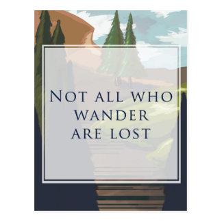 No todos que Wander se pierde Postal