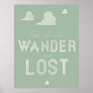 No todos que Wander se pierde Póster