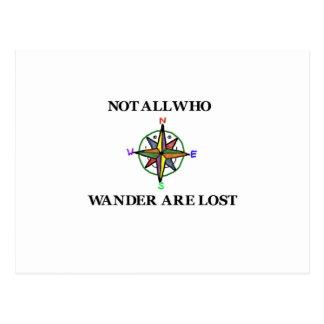 No todos que Wander se pierde Tarjeta Postal
